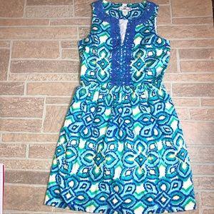 Vineyard Vines Fit Flare Blue Dress / 0